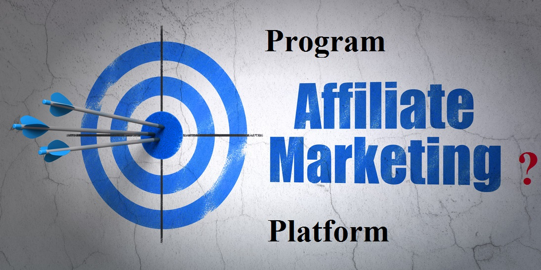 Success finance concept: arrows hitting the center of target, Blue Affiliate Marketing on wall background, 3d render